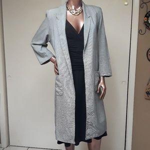 Neiman's Marcus Bert Newman Tweed Long Blazer